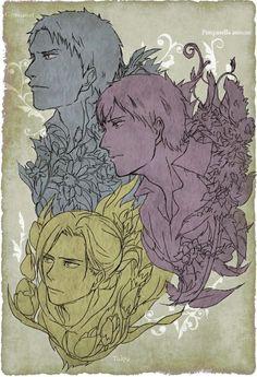 Attack on Titan | Shingeki no Kyojin - Reiner Braun , Bertholdt Hoover and Annie Leonhart