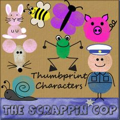 Download ideas for thumbprint characters.