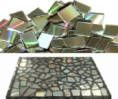 Collage con pedazos de CDs • Make a collage with CDs to cover anything