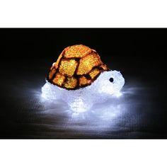 XEPA 7 in. Decorative Orange LED Turtle Light
