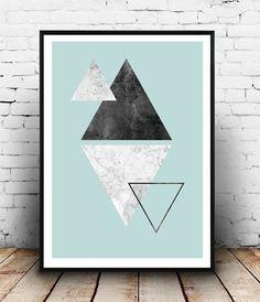 Imprim g om trique r sum de triangles miminalist par for Tableau geometrique pastel