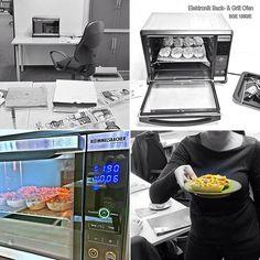 """Wenn uns im Büro der Magen knurrt, kann es durchaus vorkommen, dass wir uns eines unserer tollen Geräte """"zum Testen"""" auf den Schreibtisch stellen. 😄🍕 #ROMMELSBACHER #elektrohausgeräte #kleinbackofen #snacks #Elektronikbackofen #BGE1580E"""