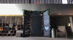 Chalkboard Backdrop with Wedding Quotes