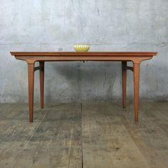 mid century danish teak extending dining table - Scandinavian Teak Dining Room Furniture