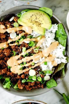 This Paleo + Korean beef bowl is ready in under 30 minutes and is a fami., Food And Drinks, This Paleo + Korean beef bowl is ready in under 30 minutes and is a family-friendly meal! It's gluten-free, dairy-free, and makes great leftov. Whole Foods, Paleo Whole 30, Whole Food Recipes, Cooking Recipes, Whole 30 Meals, Whole 30 Lunch, Clean Food Recipes, Health Food Recipes, Whole 30 Drinks