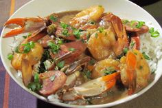 Seafood And Sausage Gumbo Recipe with 18 ingredients Recommended by 2 users. Guinness, Shrimp And Sausage Gumbo, Paleo Recipes Easy, Seafood Recipes, Food Dishes, A Food, Favorite Recipes, Cooking, Ethnic Recipes