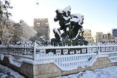 La neige à Damas (Syrie)