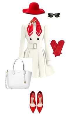 """red+white"" by miniaturka on Polyvore featuring мода, Scala, WithChic, Gizelle Renee, Michael Kors и Moschino"