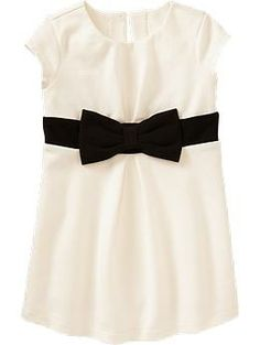 Ponte-Knit Bow-Tie Dresses for Baby | Old Navy, Simple yet chic, and only $17