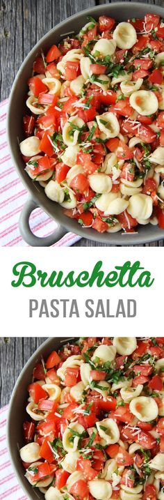 This Bruschetta Pasta Salad is a perfect summer side dish. Loaded with tomatoe… This Bruschetta Pasta Salad is a perfect summer side dish. Loaded with tomatoes, basil, parmesan cheese and noodles this salad is a must make dish! Pastas Recipes, Pasta Salad Recipes, Side Dish Recipes, Recipies, Summer Pasta Salad, Summer Salads, Summer Food, Vegetarian Recipes, Cooking Recipes