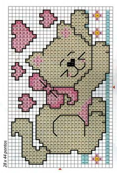This Pin was discovered by Rom Simple Cross Stitch, Cross Stitch Baby, Cross Stitch Animals, Cross Stitch Charts, Cross Stitch Designs, Cross Stitch Patterns, Cat Cross Stitches, Cross Stitching, Cross Stitch Embroidery