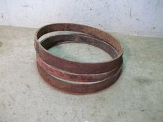 3 Old Iron Rings From Wooden Wagon Wheel Hubs