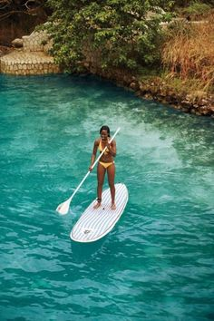 paddle boarding in Jamaica