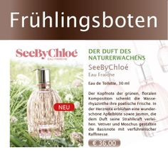 #See by #Chloé - der neue Duft.  Jetzt inkl. GRATIS Love Chloé Miniatur