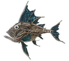 Charles Wilcox – Atlantis. #FishSculpture #Driftwood #AustralianArt #SapphireCoast #WallSculpture
