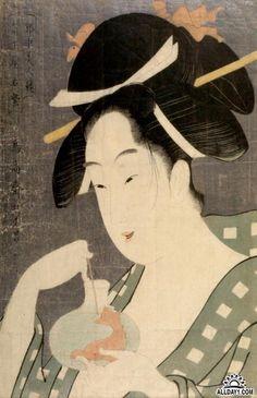 Японская гравюра укиё-э. Тёкосай Эйсё