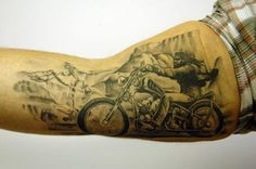 Check out this fantastic arm piece of David Mann's Ghost Rider!