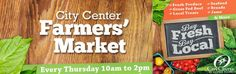 Support local vendors and fresh products by coming to the farmer's market!