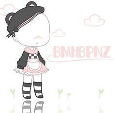 Cute Anime Chibi, Kawaii Anime, Kawaii Drawings, Cute Drawings, Club Outfits, Girl Outfits, Club Hairstyles, Clothing Sketches, Club Design