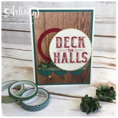 The Wood Textures designer series paper is the perfect companion for the Carols of Christmas bundle. #stampinup #carolsofchristmas