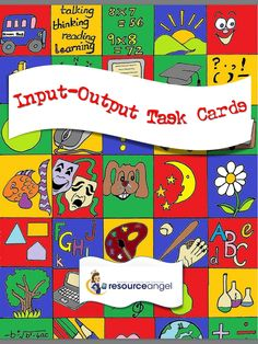 Math input output task cards for addition and subtraction