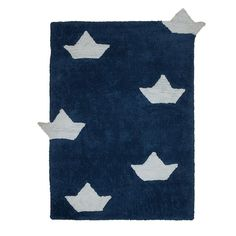 Boasts Rug FOR LITTLE SAILORS! LOOK! ONE OF THE BOATS WANTS TO SAIL AWAY!  Machine-washable: easy to wash, it can be washed at home in a conventional washing machine.  Handmade: carefully and individually handmade by our artisans. Eco-friendly: 100% natural cotton and non-toxic dyes. Light: thanks to its soft and flexible composition. Easy to match: you can match it with other accessories and get a cozy room. Size: 120 cm x 160 cm