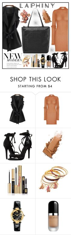 """""""Laphiny"""" by gaby-mil ❤ liked on Polyvore featuring Acne Studios, Schutz, Yves Saint Laurent, Versace, Marc Jacobs, modern, backpack, bags and laphiny"""
