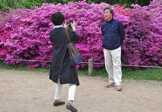 En Seúl, haciéndose fotos con un bonito fondo.