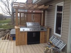 """Acquire great recommendations on """"outdoor kitchen designs layout patio"""". They are on call for you on our site. Outdoor Grill Area, Outdoor Kitchen Grill, Outdoor Grill Station, Grill Gazebo, Bbq Area, Outdoor Kitchen Design, Outdoor Seating, Outdoor Cooking, Patio Design"""