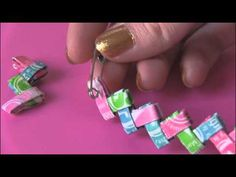 DIY: Candy Wrapper Link Jewelry. Starburst Bracelet!!! Here's the how to video!!