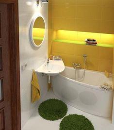 modern bathroom fixtures and storage ideas Space Saving Bathroom, Corner Sink Bathroom, Small Bathroom Sinks, Compact Bathroom, Small Bathtub, Bathroom Fixtures, Modern Small Bathrooms, Modern Master Bathroom, Bathroom Design Layout