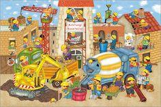 Meine kleine Wimmelstadt, suche den Maulwurf!: Poster & Kunstdruck von…