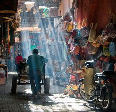 by Dani℮l on Flickr.  Coloured market life in Marrakesh, Morocco.