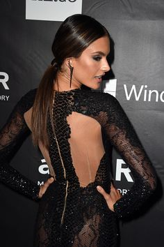Model Alessandra Ambrosio wearing Zuhair Murad RTW Couture Glamour Evening Gown