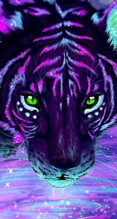 beautiful animal art Eyes is part of These Animals Have The Most Beautiful And Unusual Eyes On - This Tiger Art looks Awesome! Arte Furry, Furry Art, Tiger Wallpaper, Animal Wallpaper, Eyes Wallpaper, Cute Animal Drawings, Cute Drawings, Fantasy Creatures, Mythical Creatures