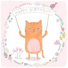 PF03 | Happy Birthday Cat | Pippi & Me