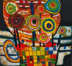 The Blob Grows in the Flower Pot - Friedensreich Hundertwasser