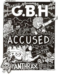 GBH, The Accused punk hardcore flyer