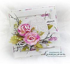 Handmade by Karasiowa: Wielkanocnie z różami - DT Namaste