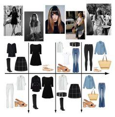 """15 Item Capsule Wardrobe (Style Icon Jane Birkin)"" by minimaliststylist on Polyvore featuring Pedder Red, Dolce&Gabbana, Hudson Jeans, Tory Burch, Joseph, Muuñ, New Look, Acne Studios, Uniqlo and women's clothing"
