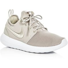 Nike Women's Roshe Two Lace Up Sneakers ($100) ❤ liked on Polyvore featuring shoes, sneakers, laced shoes, lace up sneakers, nike trainers, lacing sneakers and nike shoes