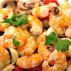 Shrimp with mushrooms - http://www.amazon.com/Smart-Cooking-Busy-People-ebook/dp/B00CQX26OM