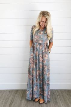 Floral Maxi with Empire Waist | ROOLEE