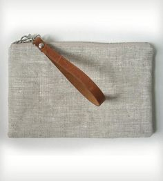 Linen and Leather Clutch | Women's Bags & Accessories | Independent Reign | Scoutmob Shoppe | Product Detail