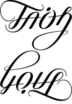 Love/Faith Ambigram Tattoo