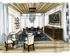 #interiordesign #marker #sketch #visualization with #copicmarkers #interiorarchitecture #handdrawn by @arielbrindis
