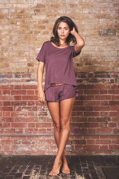 Lingerie set TShirt and Panty set Bamboo Sleepwear by luvahuva