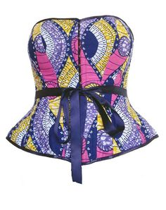 African print corset ankara top, strapless bustier, boned, made to measure