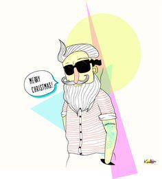 #santa #claus #xmas #colors #tattoo