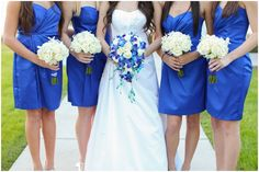 Michelle Stoker Photography: Blue bridesmaids dresses